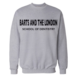 Crewneck Sweatshirt GREY Barts and The London SCHOOL OF DENTISTRY Mock Up