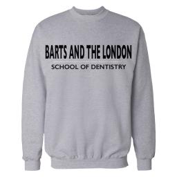 Crewneck Sweatshirt GREY Barts and The London SCHOOL OF DENTISTRY Mock Up