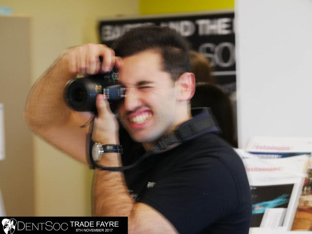 photographer at trade fayre out of focus